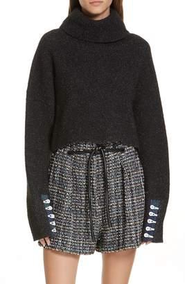 3.1 Phillip Lim Button Cuff Wool Blend Sweater