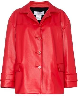 We11done Oversized Faux Leather Jacket