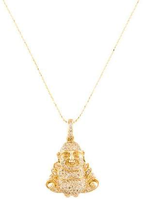 Sydney Evan 14K Diamond Buddha Pendant Necklace
