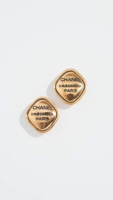 Chanel What Goes Around Comes Around Gold Rue Cambon Earrings
