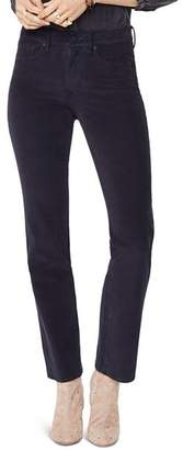NYDJ Marilyn Straight Corduroy Jeans in Black