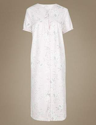 Marks and Spencer Floral Print Short Sleeve Dressing Gown
