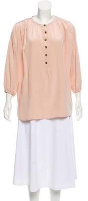 Thakoon Silk Button-Up Top