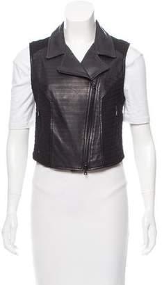 Drome Knit Paneled Leather Vest