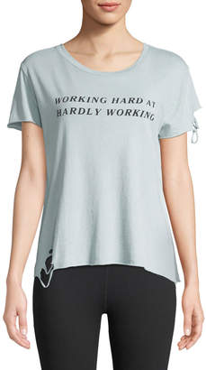 Wildfox Couture Hardly Working Distressed Crewneck Tee