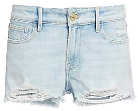 Frame Women's Le Grand Garcon Distressed Jean Shorts
