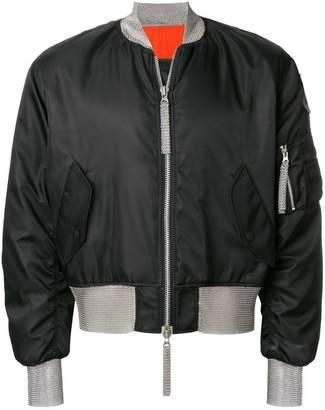 Kokon To Zai chainmail detail bomber jacket