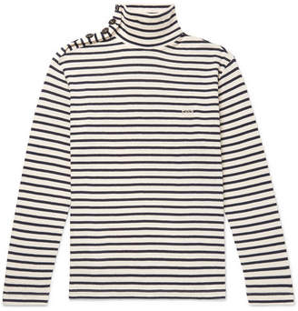 Loewe Striped Cotton Rollneck Sweater - Men - Cream