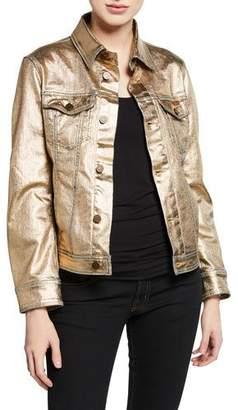 Notify Jeans Jeanne Metallic Denim Trucker Jacket