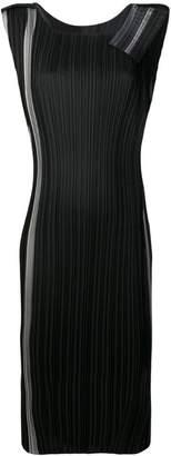Issey Miyake striped midi dress