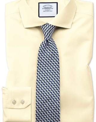 Charles Tyrwhitt Extra slim fit cutaway collar non-iron twill yellow shirt