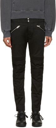 Diesel Black P-Ray Zip Trousers $200 thestylecure.com