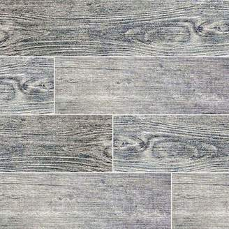 MSI Sonoma Driftwood 6 x 24 Ceramic Wood Look Tile in Gray