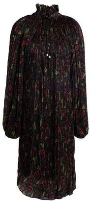 Opening Ceremony Pleated Printed Crepe Dress