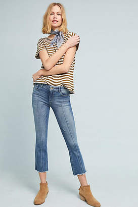 DL1961 Lara Instasculpt High-Rise Cropped Flare Jeans