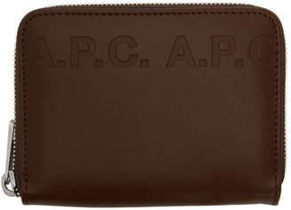 A.P.C. Brown Dallas Logo Wallet