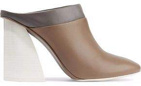 Mercedes Benz Castillo May Color-Block Leather Mules