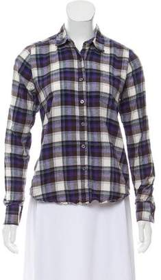 Steven Alan Check Patterned Button-Up Top