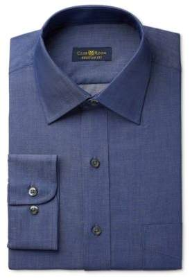 Club Room Estate Men's Classic-Fit Wrinkle-Resistant Irish Shadow Solid Dress Shirt, Created for Macy's