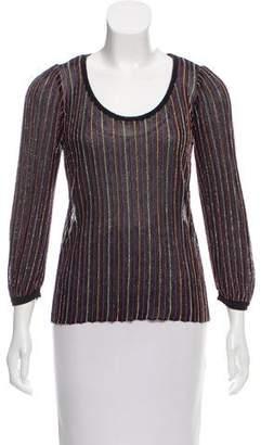 Missoni Striped Scoop Neck Sweater