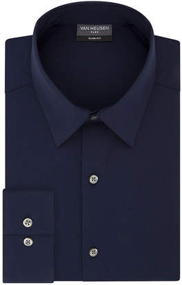 Van Heusen Slim 4 Way Stretch Long Sleeve Twill Dress Shirt - Fitted