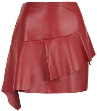 Joie Botan Ruffle Leather Skirt