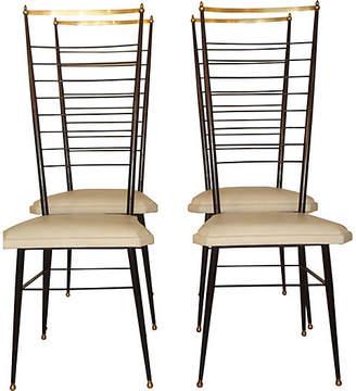 One Kings Lane Vintage Italian Chairs - Set of 4 - Thomas Brillet Inc.