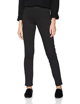 Damart Women's's Pantalon Pull-on En Maille Rayée Trouser, Black (Noir 17013), (Size: 38)