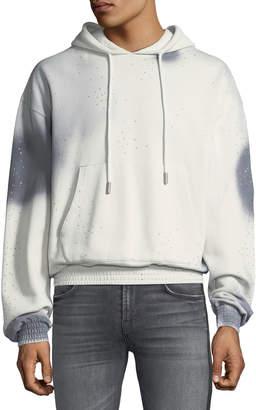 Off-White Off White Men's Spray-Over Distressed Hoodie Sweatshirt