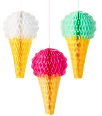"ICECREAM Tt Brand We Heart Ice Cream Ice-Cream Decorations 8"" 3pk"