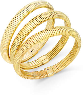 Thalia Sodi Gold-Tone Trio Set of Herringbone Stretch Bracelets, Created for Macy's