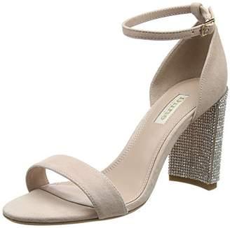 Dune Women's MEZMERISE Ankle Strap Sandals, Pink Blush-Suede, 6 (39 EU)