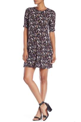 Cynthia Steffe CeCe by Floral Ruched Sleeve Dress