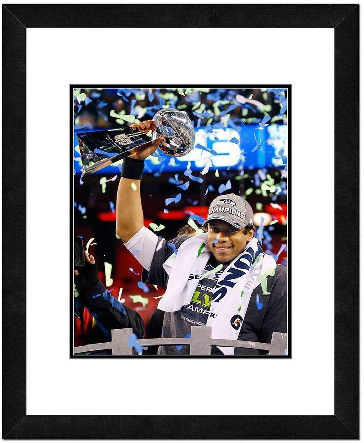 "Seattle Seahawks Russell Wilson Super Bowl XLVIII Framed 14"" x 11"" Player Photo"