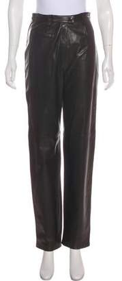 Lafayette 148 High-Rise Leather Pants