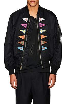Marcelo Burlon County of Milan Men's MA-1 Embroidered Bomber Jacket