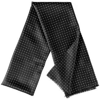 Black Oracle Polka Dot Silk Scarf