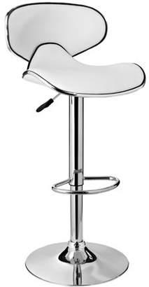 Powell Adjustable Bar Stool, White