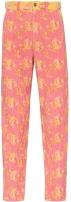 Gucci floral print corduroy jeans