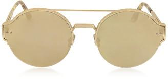 Bottega Veneta BV0013S Round Metal Frame Unisex Sunglasses