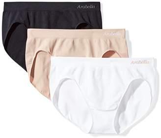 Arabella Women's Plus Size Seamless Hi Cut Brief Panty