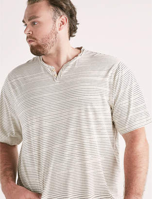 Lucky Brand Big and Tall Linen Stripe Tee