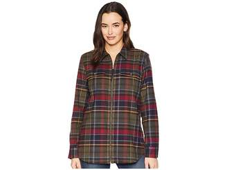 Chaps Medium Weight Twill Long Sleeve Shirt Women's Clothing