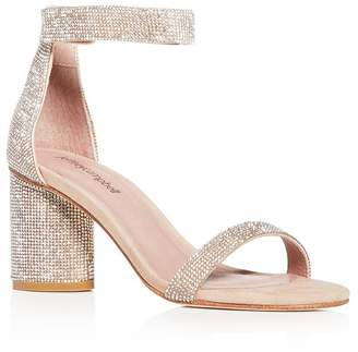 Jeffrey Campbell Women's Laura-JS Embellished Block-Heel Sandals