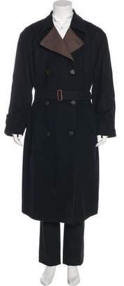 Salvatore Ferragamo Reversible Wool Trench Coat