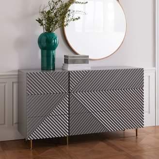 west elm Rosanna Ceravolo 6-Drawer Dresser - Mist Gray