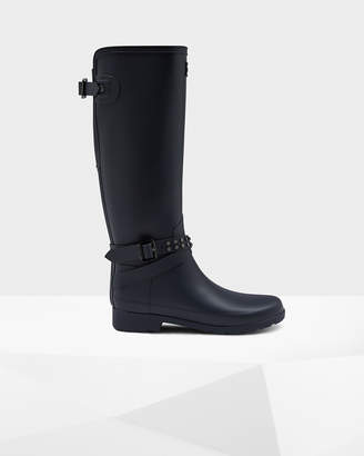 Hunter Women's Refined Adjustable Studded Tall Rain Boots