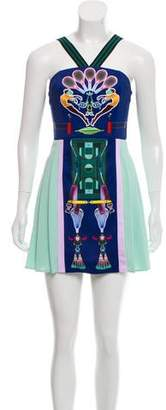 Mary Katrantzou Printed Embroidered Dress