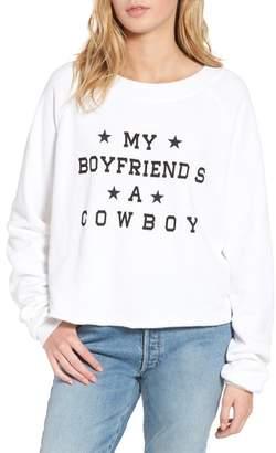 Wildfox Couture My Boyfriend's a Cowboy Crop Sweatshirt
