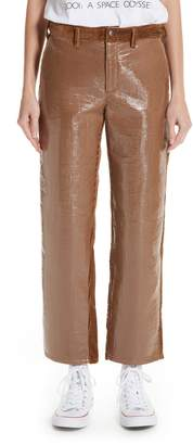 Undercover Coated Front Corduroy Pants
